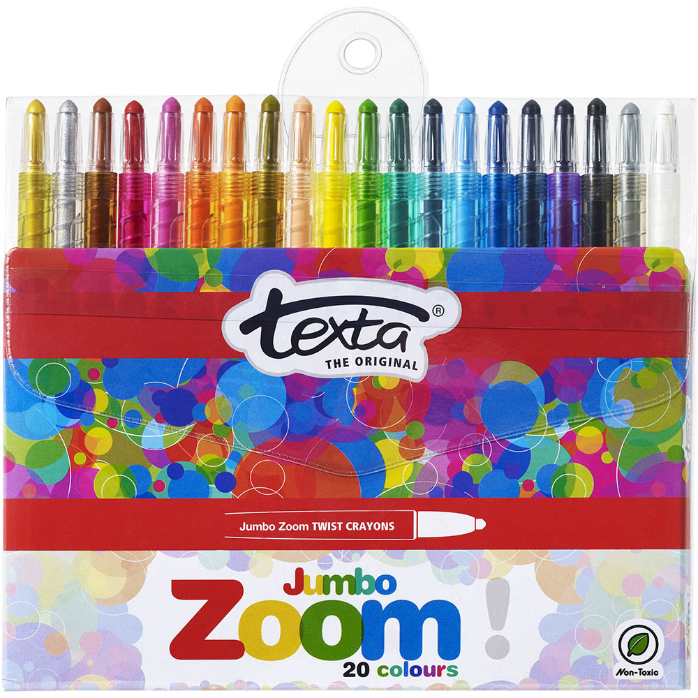 Image for TEXTA JUMBO ZOOM CRAYONS ASSORTED PACK 20 from Office National Perth CBD