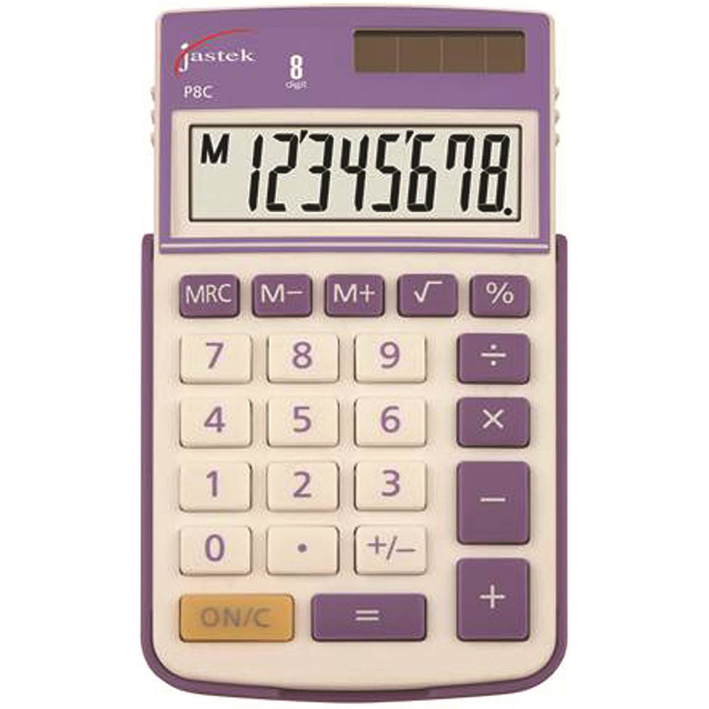 Image for JASTEK POCKET CALCULATOR 8 DIGIT ASSORTED from Our Town & Country Office National