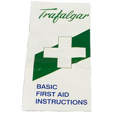 Image for TRAFALGAR FIRST AID PAMPHLET/FOLDED from PaperChase Office National