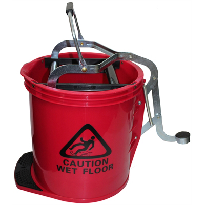 Image for CLEANLINK MOP BUCKET HEAVY DUTY WITH METAL WRINGER RED from Office National Limestone Coast