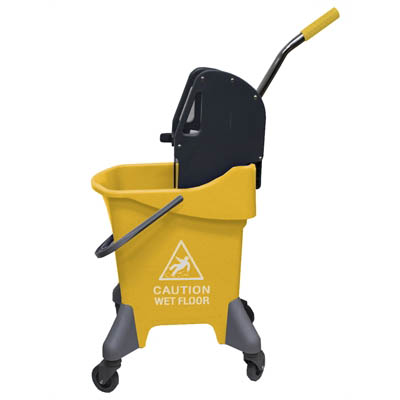 Image for CLEANLINK MOP BUCKET DOWNWARD PRESS 31 LITRE YELLOW from Office National Capalaba