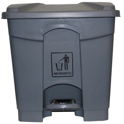 Image for CLEANLINK RUBBISH BIN WITH PEDAL LID 45 LITRE GREY from Office National Limestone Coast