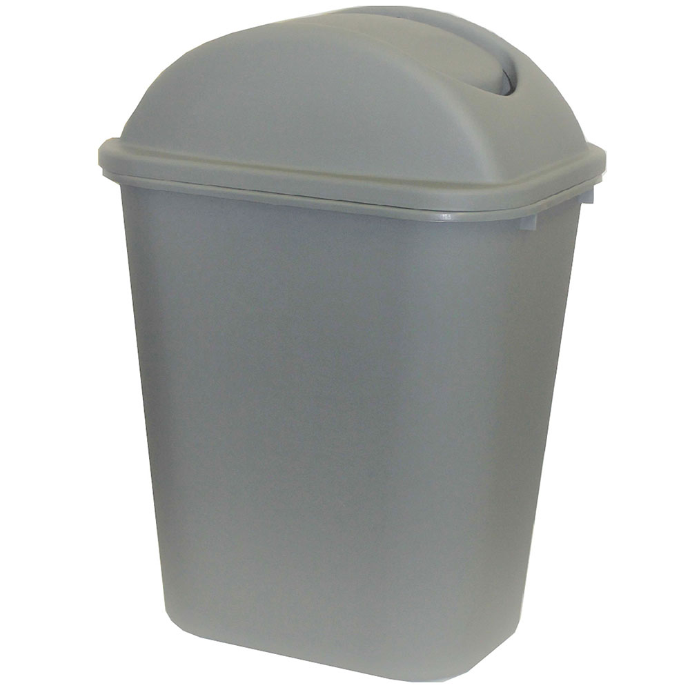 Image for CLEANLINK RUBBISH BIN WITH LID 24 LITRE GREY from Office National Capalaba