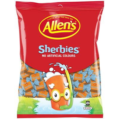 Image for ALLENS SHERBIES 850G from Office National Capalaba