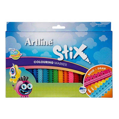 Image for ARTLINE STIX COLOURING MARKER ASSORTED PACK 20 from Mackay Business Machines (MBM)