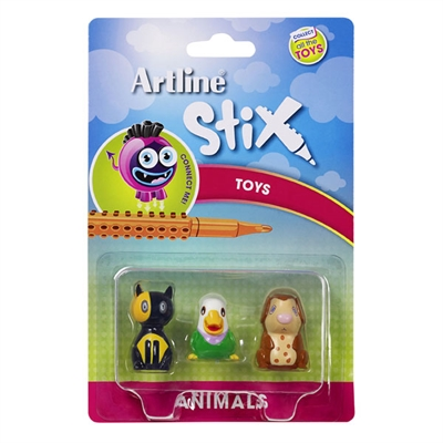 Image for ARTLINE STIX TOYS ANIMALS 2 ASSORTED PACK 3 from Mackay Business Machines (MBM)