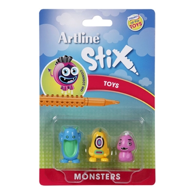 Image for ARTLINE STIX TOYS MONSTERS 2 ASSORTED PACK 3 from Mackay Business Machines (MBM)