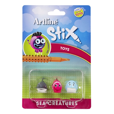 Image for ARTLINE STIX TOYS SEA CREATURES 2 ASSORTED PACK 3 from Mackay Business Machines (MBM)