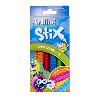 Image for ARTLINE STIX DRAWING PEN ASSORTED PACK 6 from Mackay Business Machines (MBM)