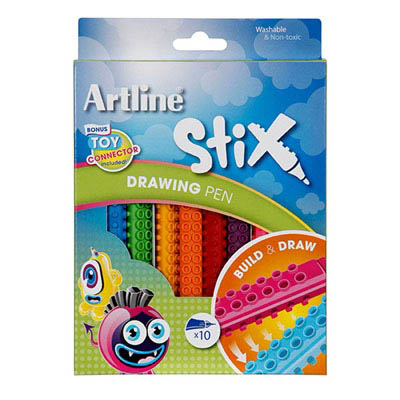 Image for ARTLINE STIX DRAWING PEN ASSORTED PACK 10 from Mackay Business Machines (MBM)