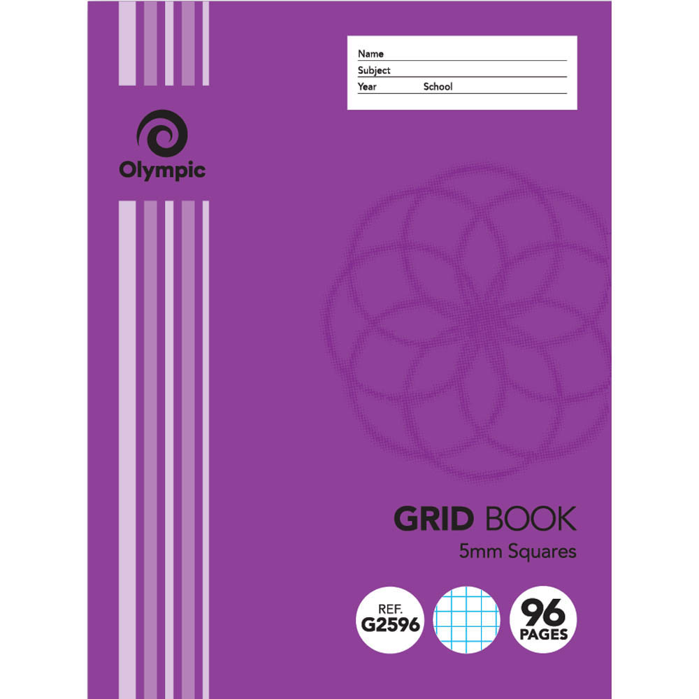 Image for OLYMPIC G2596 GRID BOOK 5MM SQUARES 96 PAGE 55GSM 225 X 175MM from Office National Kalgoorlie