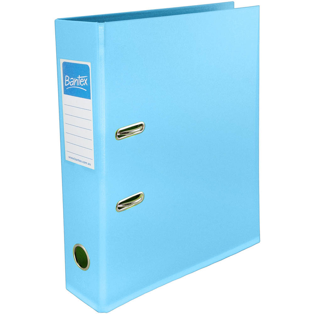 Image for BANTEX LEVER ARCH FILE 70MM A4 SKY BLUE from Mackay Business Machines (MBM)