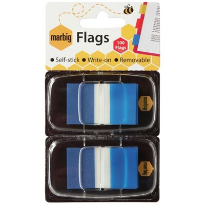 Image for MARBIG FLAGS POP-UP 50 FLAGS 25 X 44MM BLUE PACK 2 from Mackay Business Machines (MBM)