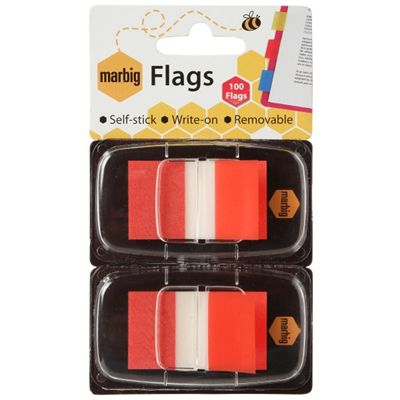 Image for MARBIG FLAGS POP-UP 50 FLAGS 25 X 44MM RED PACK 2 from Axsel Office National