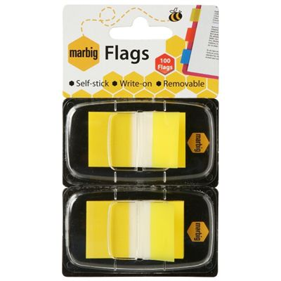 Image for MARBIG FLAGS POP-UP 50 FLAGS 25 X 44MM YELLOW PACK 2 from Mackay Business Machines (MBM)
