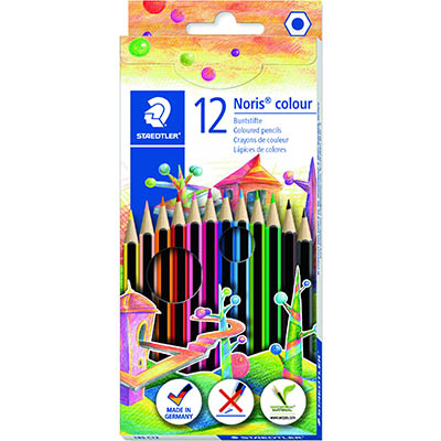 Image for STAEDTLER 185 NORIS COLOUR PENCILS ASSORTED BOX 12 from OFFICE NATIONAL CANNING VALE, JOONDALUP & OFFICE TOOLS OPD