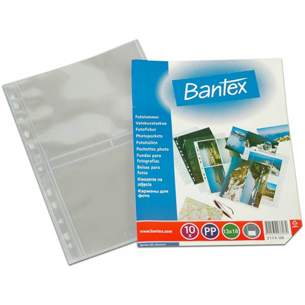 Image for BANTEX PHOTO POCKET PP 13 X 18 INCH CLEAR PACK 10 from Office National Capalaba