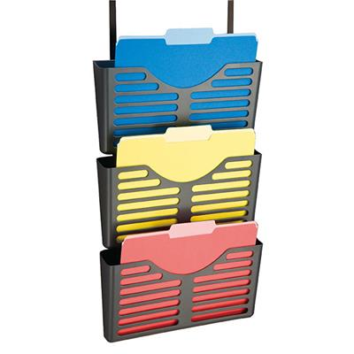 Image for ESSELTE VERTICALMATE FILE POCKET X3 WITH PARTITION HANGER CHARCOAL from Office National Capalaba