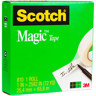 Image for SCOTCH 810 MAGIC TAPE 25MM X 66M from Office National Perth CBD
