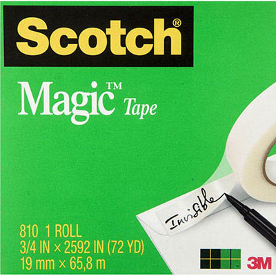 Image for SCOTCH 810 MAGIC TAPE 19MM X 66M from Office National Perth CBD