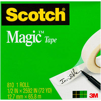 Image for SCOTCH 810 MAGIC TAPE 12MM X 66M from Axsel Office National