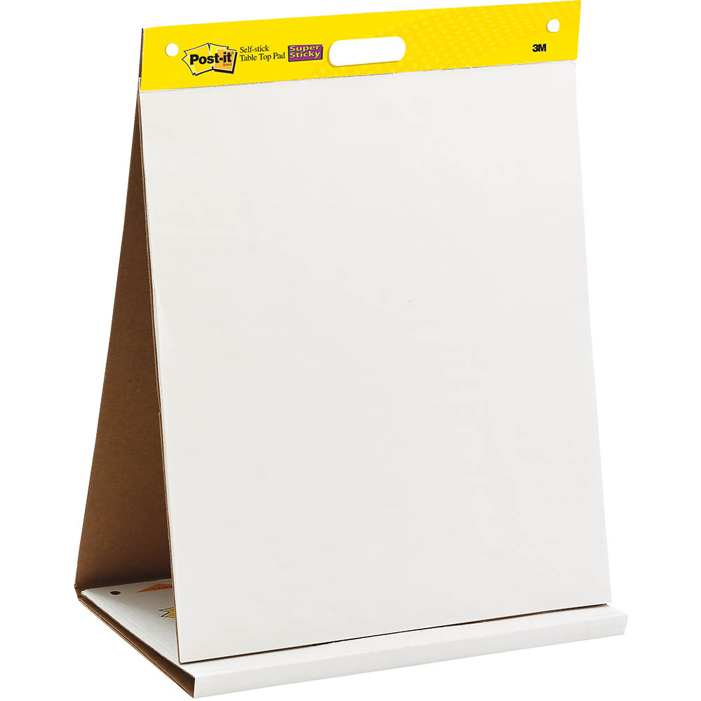 Image for POST-IT 563R SUPER STICKY SELF-STICK TABLE TOP PAD 508 X 584MM WHITE from Office National Capalaba