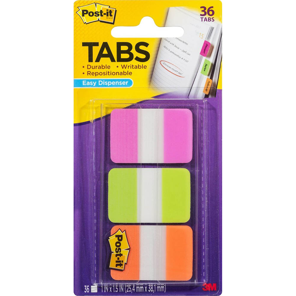 Image for POST-IT 686-RYB DURABLE TABS 3 COLOURS RED BLUE YELLOW PACK 66 from Paul John Office National