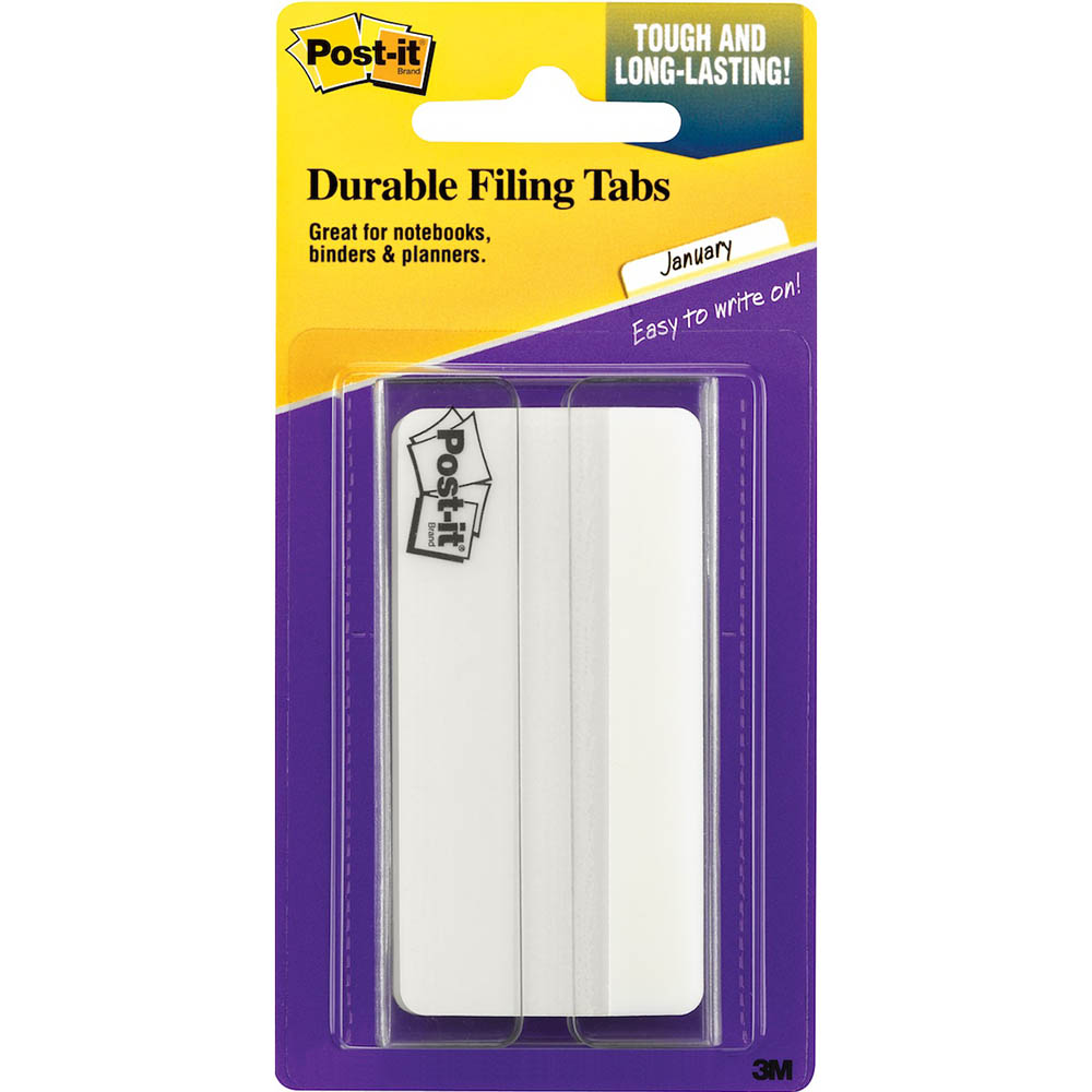 Image for POST-IT 686-50WH3IN DURABLE TABS/DIVIDERS 75MM WHITE from Axsel Office National
