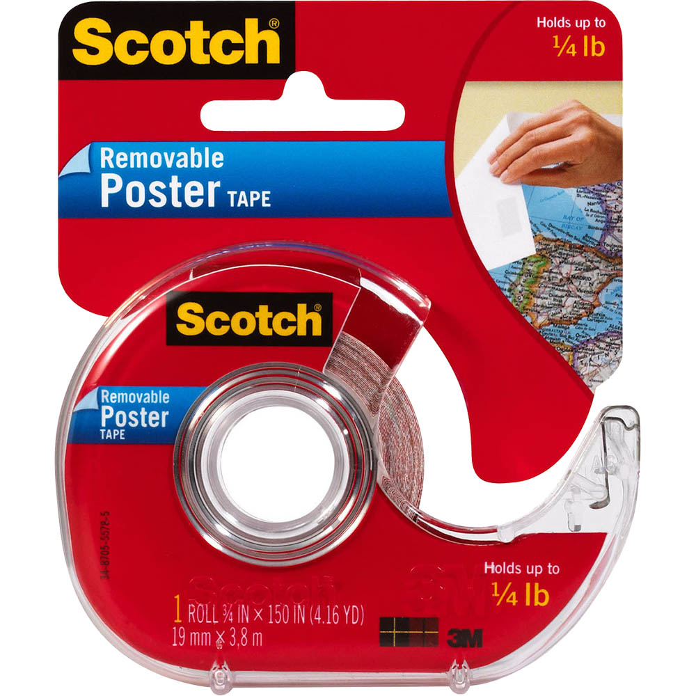 Image for SCOTCH 109 POSTER MOUNTING TAPE REMOVABLE 19MM X 3.8M CLEAR from Axsel Office National