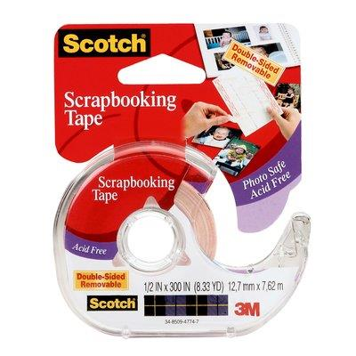 Image for SCOTCH 002 DOUBLE SIDED PHOTO AND DOCUMENT MOUNTING TAPE 12.7MM X 7.62M from Axsel Office National