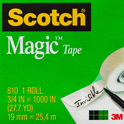 Image for SCOTCH 810 MAGIC TAPE MULTI PACK 19MM X 25M PACK 4 from Mackay Business Machines (MBM)