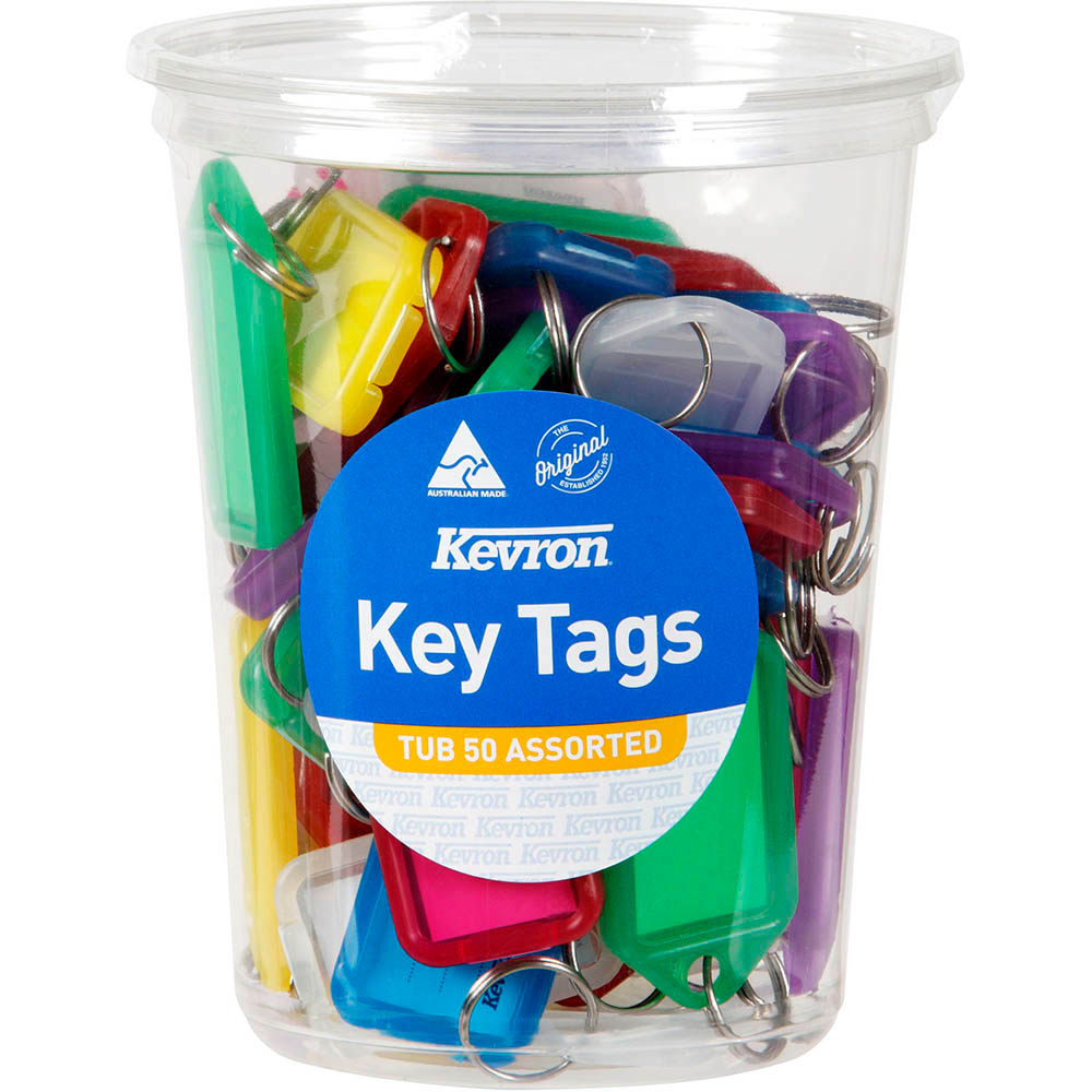 Image for KEVRON ID5 KEYTAGS ASSORTED TUB 50 from Office National Capalaba