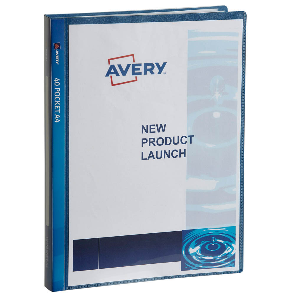 Image for AVERY 47935 DISPLAY BOOK INSERT COVER 40 POCKET A4 NAVY from OFFICE NATIONAL CANNING VALE, JOONDALUP & OFFICE TOOLS OPD