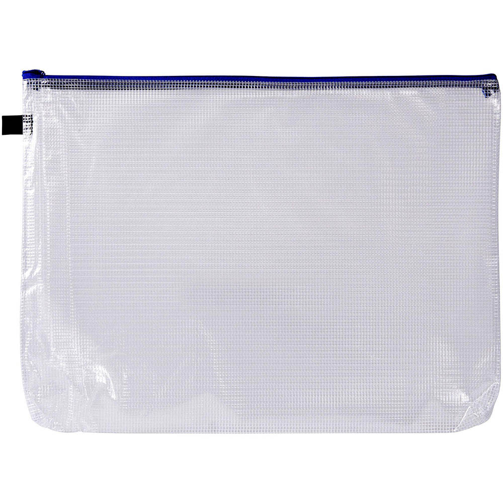 Image for AVERY 49500 HANDY POUCH WITH ZIP A3 CLEAR AND BLUE from Mackay Business Machines (MBM)