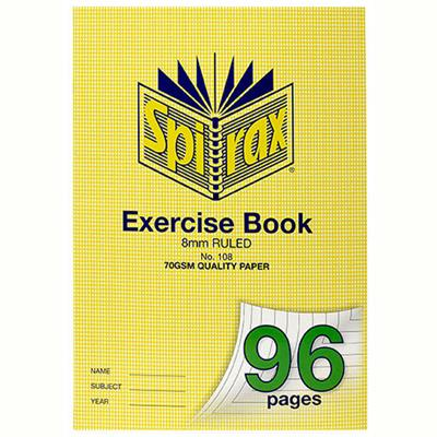 Image for SPIRAX 108 EXERCISE BOOK 8MM RULED 70GSM A4 96 PAGE from Office National Perth CBD