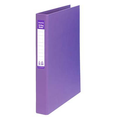 Image for COLOURHIDE RING BINDER PE 2D 25MM A4 PURPLE from Office National Capalaba
