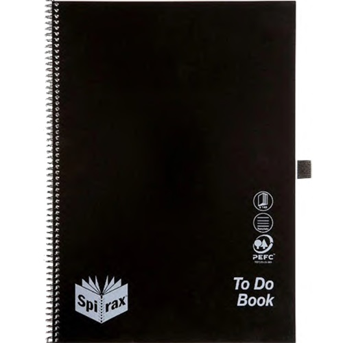 Image for SPIRAX P704 NOTEBOOK TO DO LIST A4 140 PAGE BLACK from Office National Kalgoorlie
