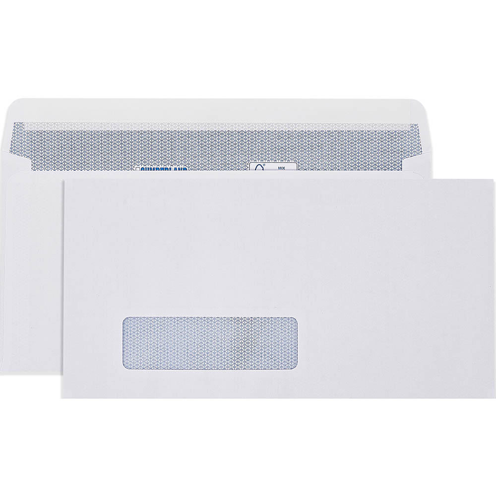 Image for CUMBERLAND DLX ENVELOPES SECRETIVE WALLET WINDOWFACE STRIP SEAL LASER 90GSM 235 X 120MM WHITE BOX 500 from Mackay Business Machines (MBM)
