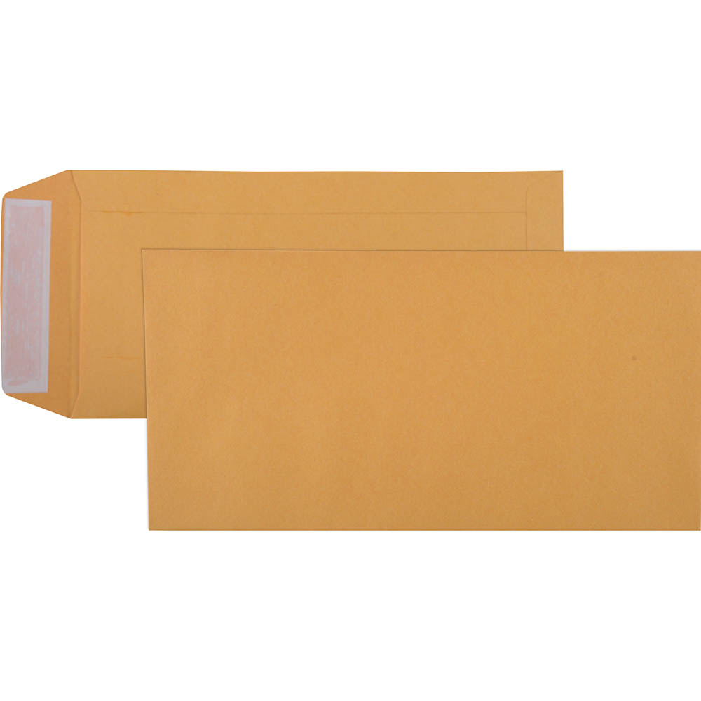 Image for CUMBERLAND DLX ENVELOPES POCKET PLAINFACE STRIP SEAL 85GSM 235 X 120MM GOLD BOX 500 from Mackay Business Machines (MBM)