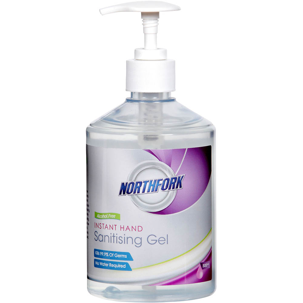 Image for NORTHFORK INSTANT HAND SANITISER GEL ALCOHOL FREE 500ML PUMP from Office National Capalaba