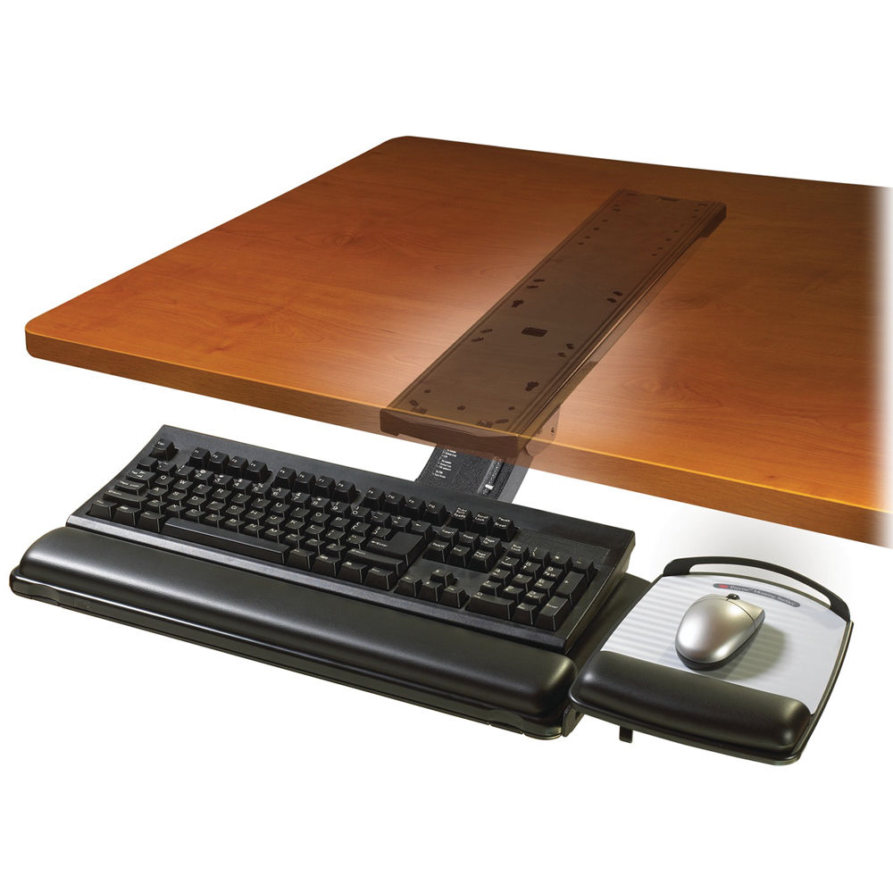 Image for 3M AKT180LE KEYBOARD TRAY WITH ADJUSTABLE SIT/STAND ARM BLACK from Mackay Business Machines (MBM)