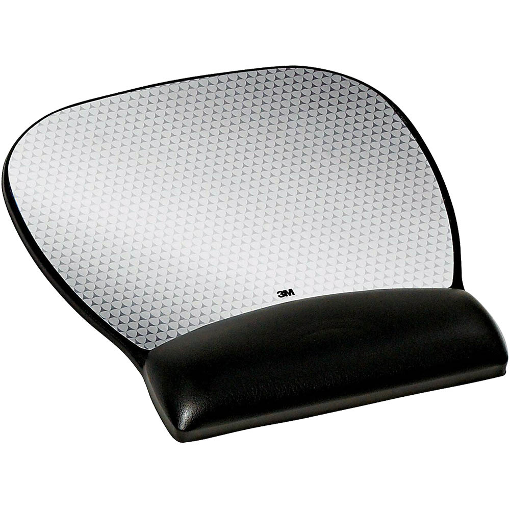 Image for 3M MW310LE PRECISE MOUSE PAD WITH GEL WRIST REST LARGE ABSTRACT BLACK/SILVER from OFFICE NATIONAL CANNING VALE, JOONDALUP & OFFICE TOOLS OPD