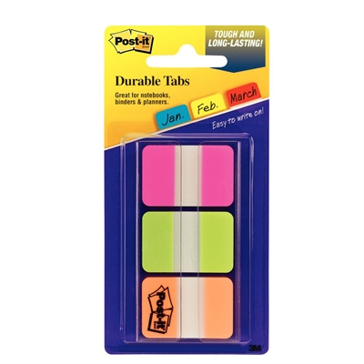 Image for POST-IT 686-PGOT DURABLE INDEXING AND FILING TABS. 12 EACH COLOUR 25 X 38MM PINK, GREEN, ORANGE. PACK 36 from Axsel Office National