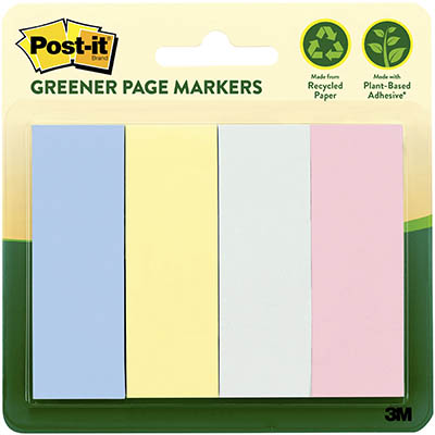 Image for POST-IT 671-4RP-A GREENER PAGE MARKERS 25 X 76MM HELSINKI PACK 4 from Axsel Office National