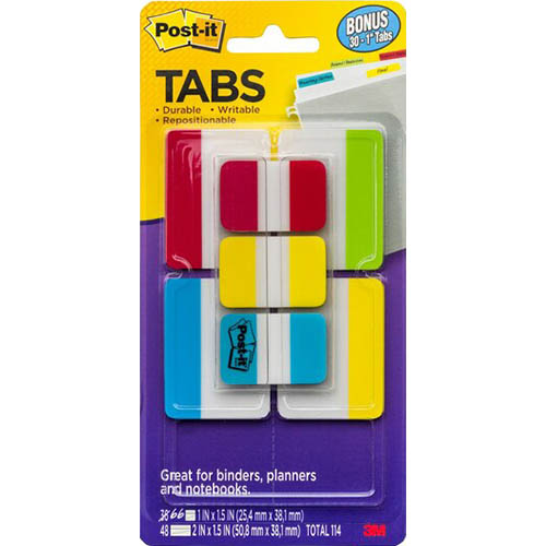 Image for POST-IT 686-VAD2 DURABLE TABS 50MM VALUE PACK + BONUS 25MM TABS from Axsel Office National