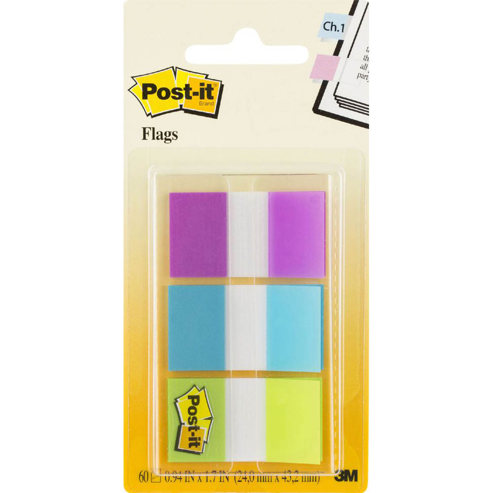 Image for POST-IT 680-EG-ALT ALTERNATING COLOUR FLAGS 25MM ASSORTED PACK 60 from Axsel Office National