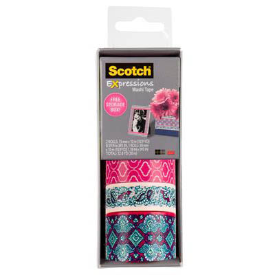 Image for SCOTCH C317-3PK-QUAT EXPRESSIONS WASHI TAPE ASSORTED PACK 3 from Axsel Office National