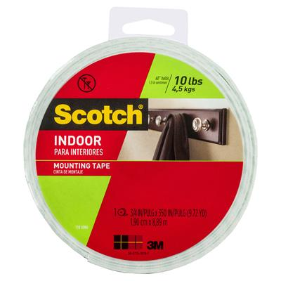 Image for SCOTCH 110 MOUNTING TAPE PERMANENT 19MM X 8.9M WHITE from Office National Capalaba