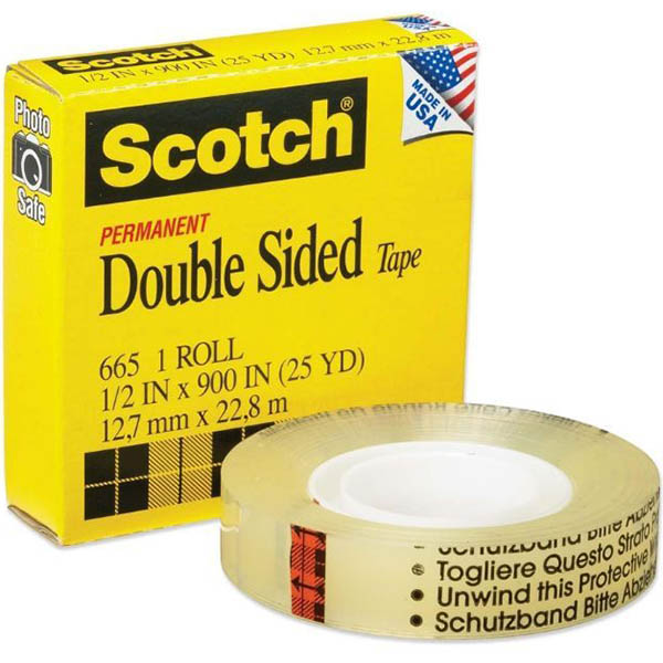 Image for SCOTCH 665 DOUBLE SIDED TAPE 12MM X 33M from Axsel Office National