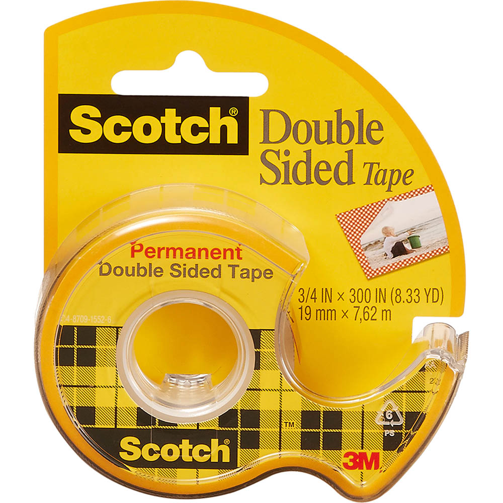 Image for SCOTCH 237 DOUBLE SIDED TAPE ON DISPENSER 19MM X 7.6M from Axsel Office National
